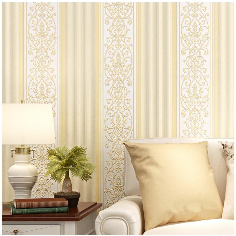10m*0.53m Non-woven Wallpaper Modern Minimalist Pure Pigmented Vertical Stripes Bedroom Living Room Hotel Decoration Wallpaper