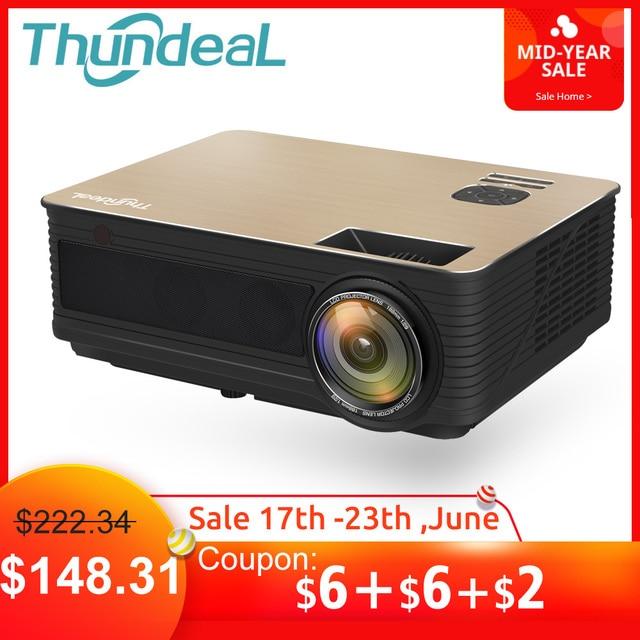 ThundeaL HD projektor TD86 4000 lumenów z systemem Android 6.0 WiFi Bluetooth projektora (opcjonalnie) dla Full HD 1080 P telewizor LED z dostępem do kanałów rzutnik