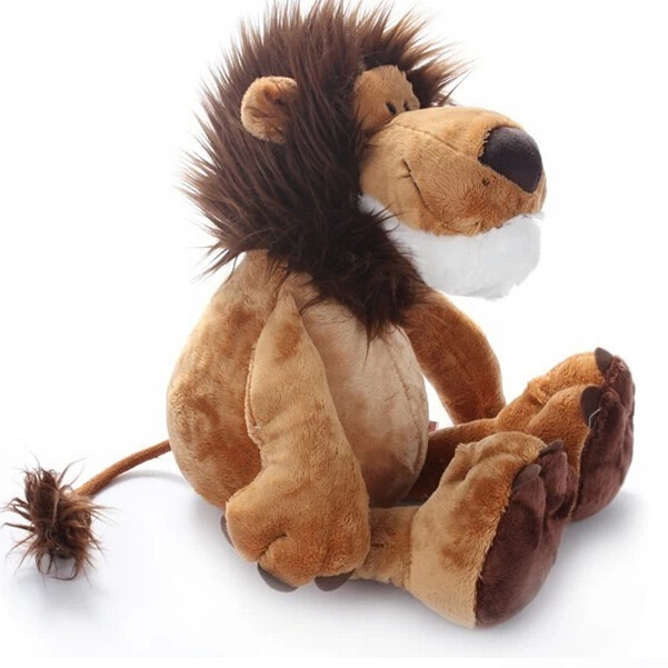 Купить со скидкой 10''25CM Hot Sale Popular Lion Stuffed Plush Doll Jungle Series Stuffed Animal Toys for Kids Childre