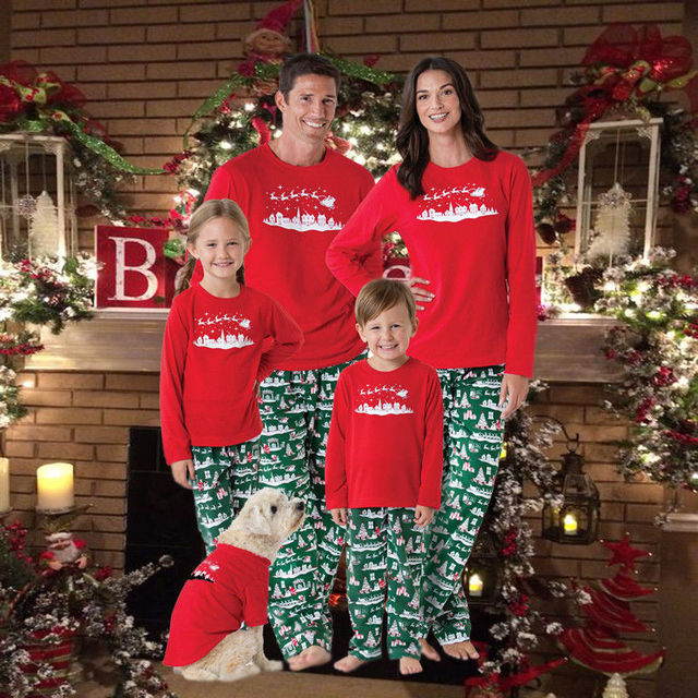 2017 pudcoco Newest Arrivals Hot Christmas Family Matching Pajamas  Sleepwear Nightwear Outfits Sweet Family Matching Outfits - 2017 Pudcoco Newest Arrivals Hot Christmas Family Matching Pajamas
