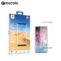 Mocolo 3D 곡선 전체 화면 9H 강화 유리에 대 한 삼성 갤럭시 참고 10 플러스 유리 필름 전체 커버 화면 보호기에 대 한 Note10