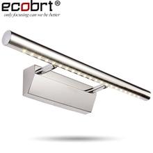ECOBRT*Modern 7W LED Mirror Wall lights Lamps for Indoor bathroom spot wall bulb lighting stainless steel 7W Free shipping цена в Москве и Питере