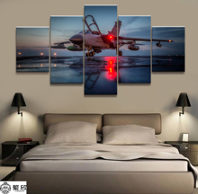 Hot Sales Without Frame 5 Panels Picture Combat Aircraft Posters Painting Artwork Wall Art Canvas Wholesale