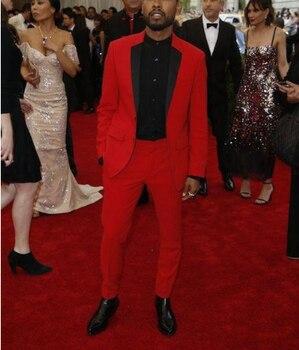 New Arrival 2018 Wedding Morning Style Dinner Party Suit Red/Black Jacket Mens Groom Wedding Suits Tuxedo Bridegroom Coat+Pants+