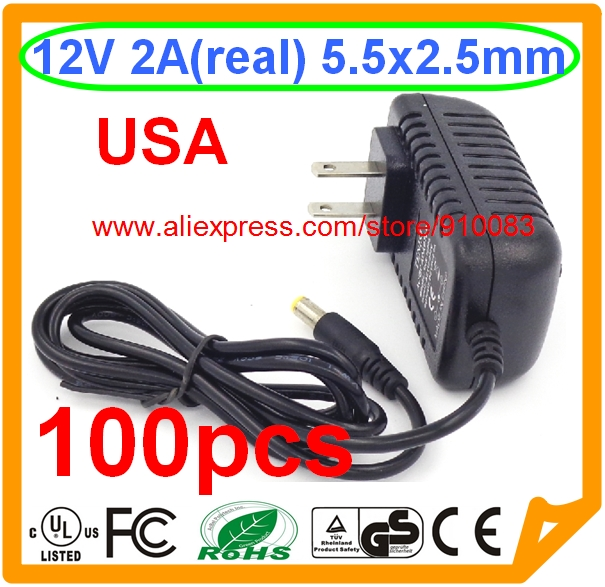 100pcs 12v2a Ac 100v 240v Converter Adapter Dc 12v 2a 2000ma Power