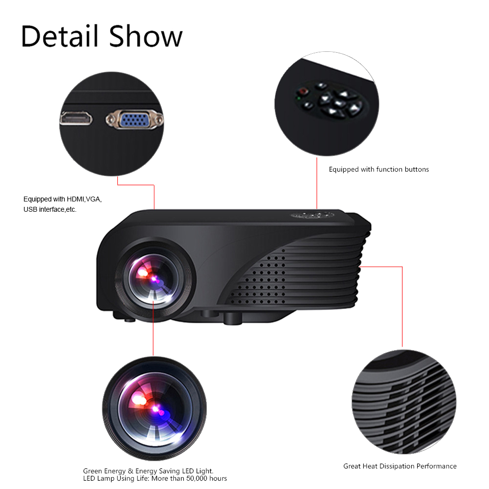 ENVÍO LIBRE de DHL S320 LCD Portátil Proyector 1800 Lúmenes 800x600 píxeles HD R