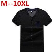 Plus Size Big 10XL 5XL 6XL 7XL Summer Hipster Men Casual T Shirts 8XL Short Sleeve
