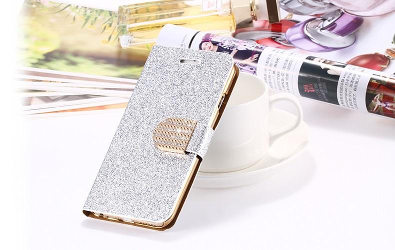 Kisscase dla iphone 5s case glitter bling skórzane etui dla iphone 5 5s se 6 6 s 7 plus stań portfel pokrywa dla iphone 7 7 plus SE 24