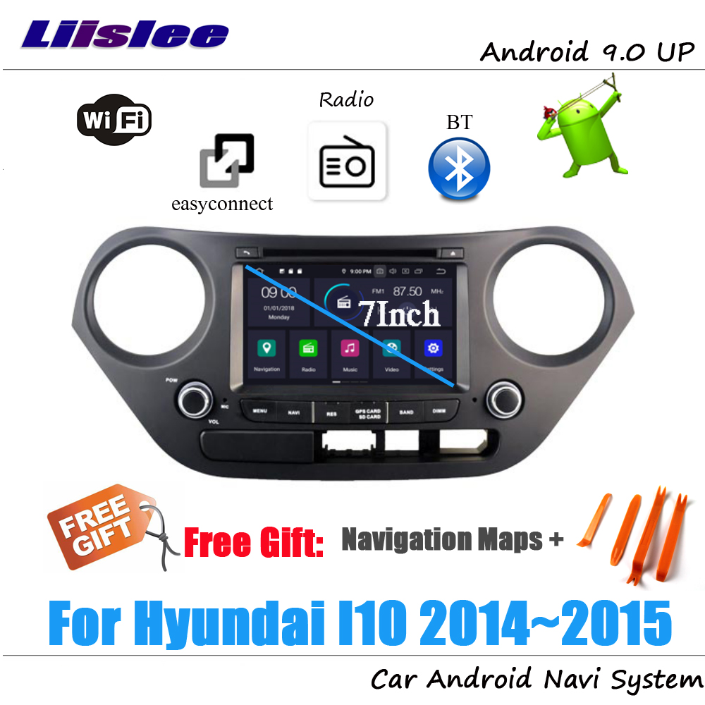 Liislee Android 9 4 32G For Hyundai I10 2014 2015 Stereo Car Radio Video Carplay GPS