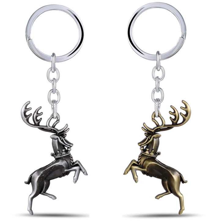 MS JEWELS Game Of Thrones House Baratheon Keychain Song Of Ice and Fire Metal Key Rings Present Chaveiro