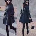 Women Cashmere Coat New 2016 Casacos Femininos Women's Slim Woolen Coats Female Autumn Winter Wool Coat