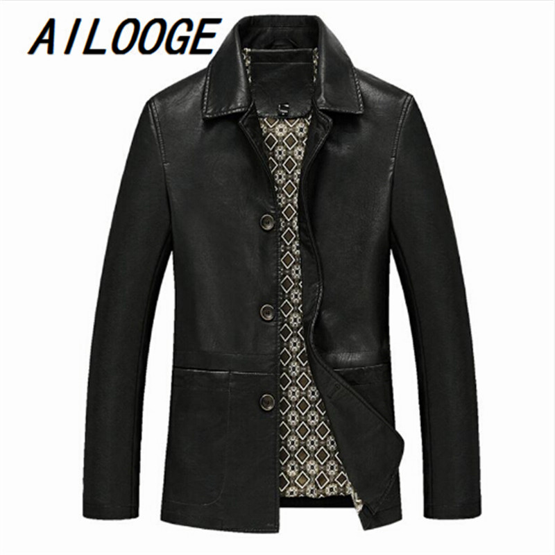 Fashion Men Leather Jackets Autumn & Spring PU Leather Clothes Soft Sheepskin Business Casual Coats For Men Male Biker Jackets
