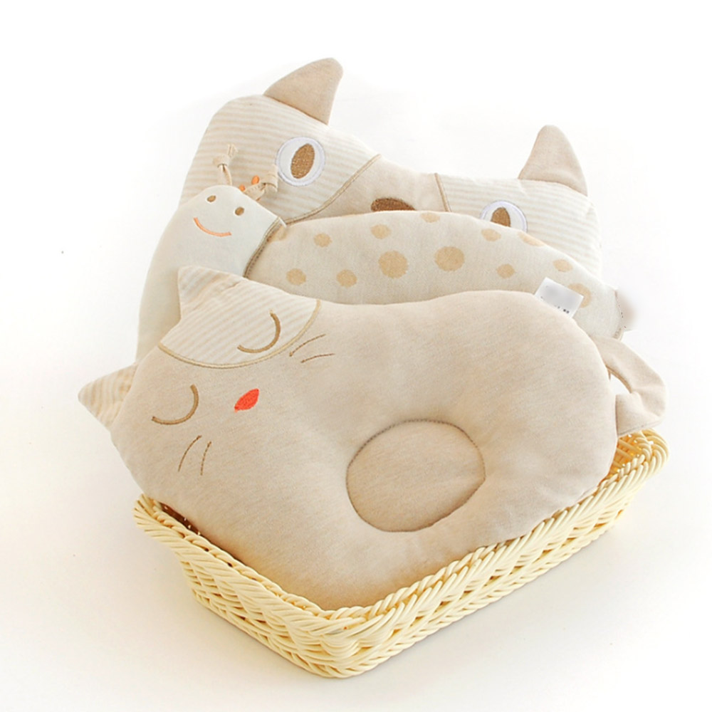 Cute Newborn Baby Pillow Infant Sleep Positioner Prevent Flat Head Shape Support Cotton Infant Pillow