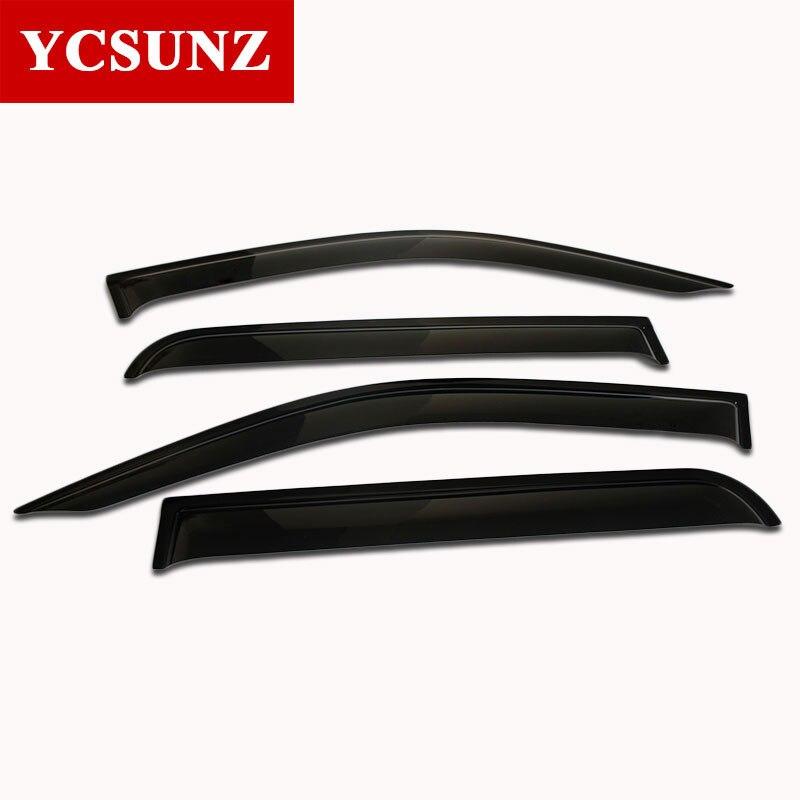 2016-2017 Side Window Deflectors Of Accessories For Toyota Hilux Pickup Black Car Wind Deflector Window Guard Hilux Visor Ycsunz