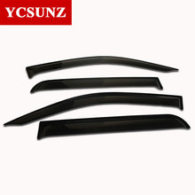 side window deflectors of accessories for toyota hilux revo 2015 pickup black color car wind deflector guard visor
