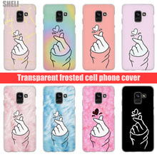 SHELI Black White Love kpop Transparent Hard Case for Samsung Galaxy A3 A5 2017 A6 A7 A8 2018 plus Galaxy Note 9 8 5 4 A9(China)