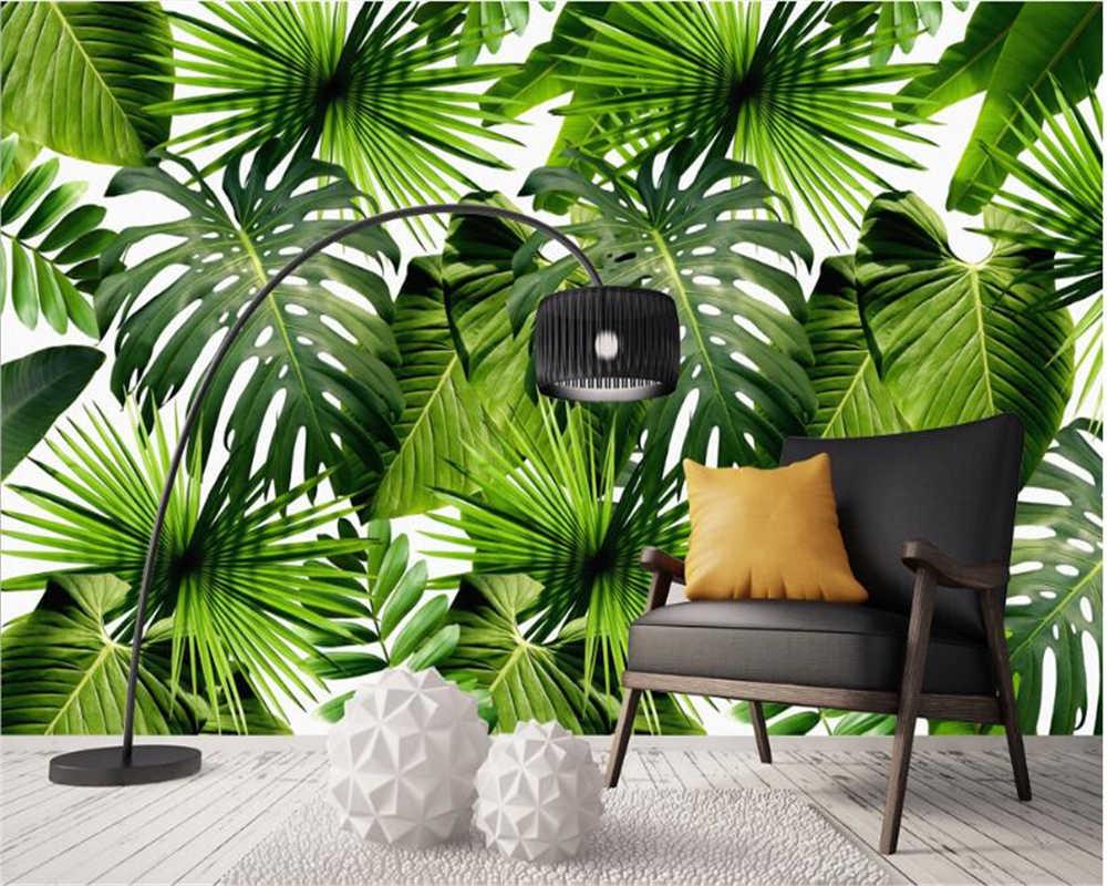 Pianta Di Banana Foto moderno semplice wallpaper hd rainforest pianta foglia di banana murale  sfondo muro 3d wallpaper murals papier peint beibehang