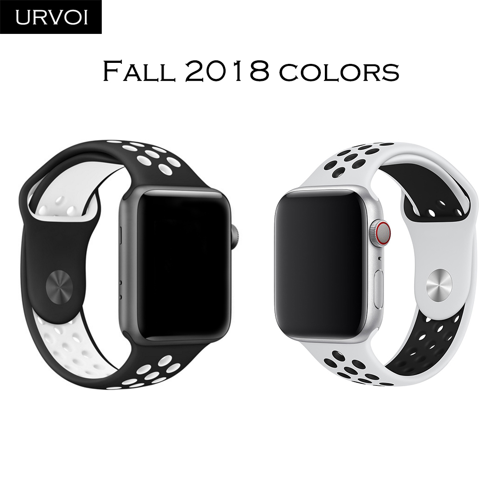 a81041502d51 URVOI Band for apple watch Nike+ series 4 3 2 1 limited light weight  breathable silicone