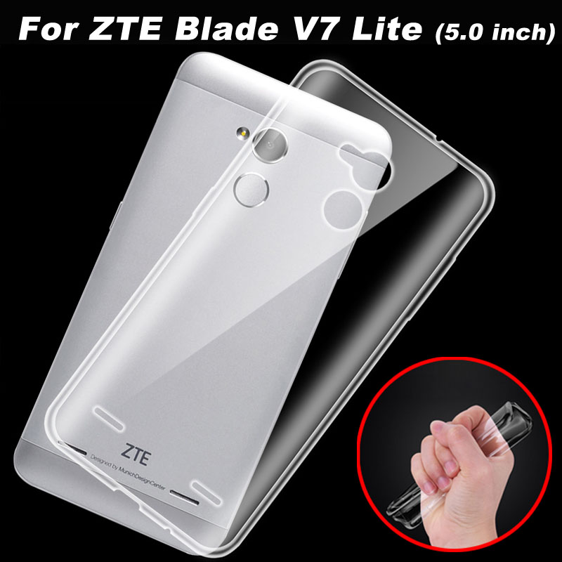 Pouzdro ZTE Blade V7 Lite 0,6 mm průhledné TPU Soft Cover Pouzdro na telefon pro ZTE Blade V8 / V7 Lite Zadní kryt Pouzdro