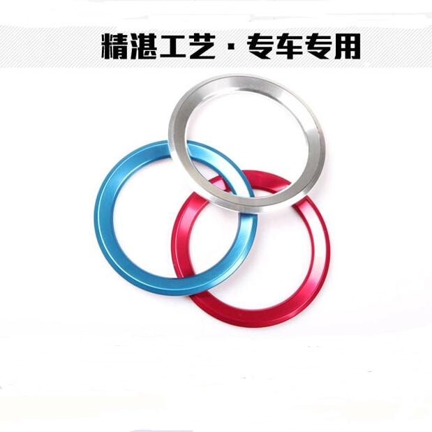 4X Red Wheel Center Hub Ring Adorn Trim For BMW 1 2 3 4 5 6 7 Series X1 X3 X4 X5