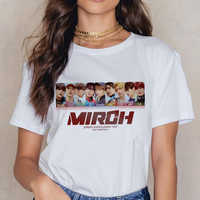 Stray Kids Casual Short Sleeve T Shirt Women Vintage Harajuku Ullzang Mlroh T-shirt New Album Fan Tshirt 90s Korean Tops Female