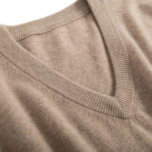 Image 5 - Męskie swetry mieszanka kaszmiru Knitting V neck swetry gorąca sprzedaż wiosna i zima mężczyzna wełniana dzianina wysokiej jakości bluzy ubrania