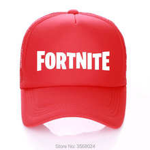official photos fcb3f 2d6e6 Game Fortnite Cap Boy Adult Printed FORTNITE Trucker Hat Summer Kids  Baseball Hats Sun Unisex Casual
