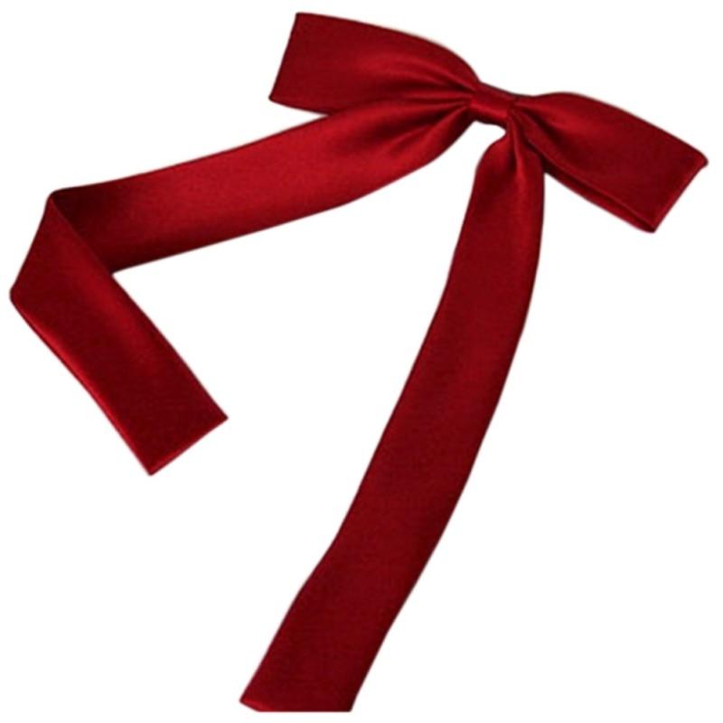 Adjustable Bow Neck Tie Plain Satin Waiter Student Butterfly 12CM Fashion Women Girls Cute Party