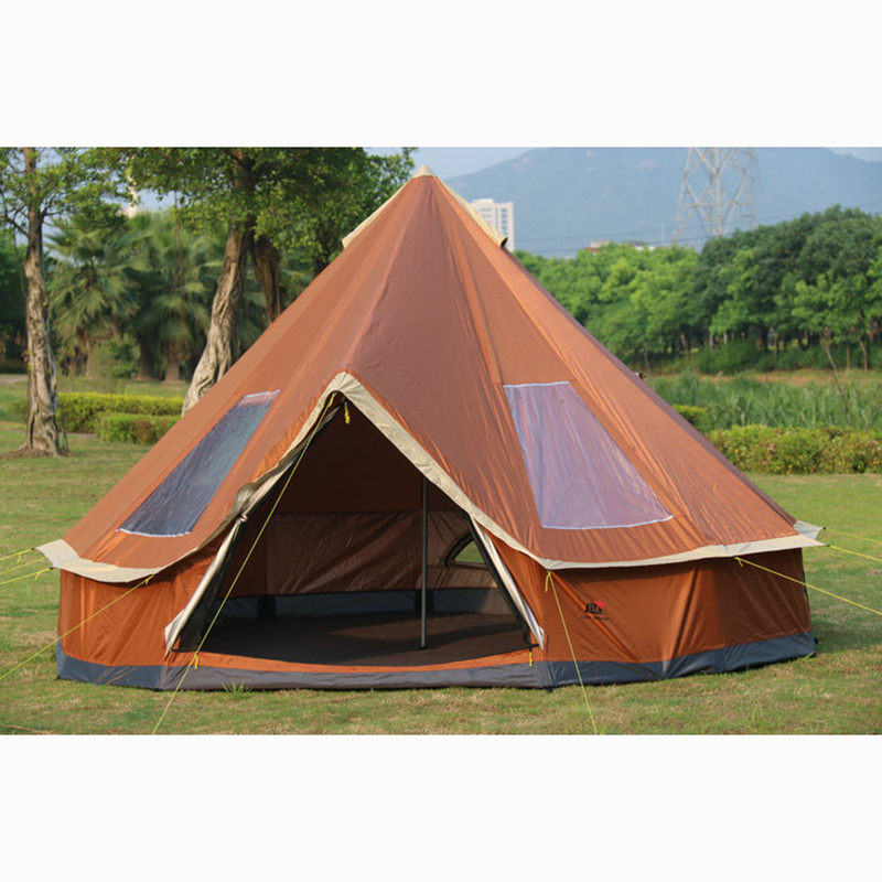 Ultralarge 5-8 Person Family Size Mongolia yurt Tent for Travel Hiking Waterproof Sun Shelter Tent Outdoor Camping Winter Tents outdoor double layer 10 14 persons camping holiday arbor tent sun canopy canopy tent