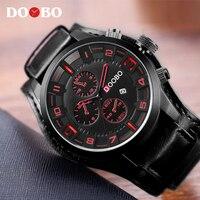 Mens Watches Top Brand Luxury DOOBO Men Watch Leather Strap Fashion Quartz Watch Casual Sports Wristwatch
