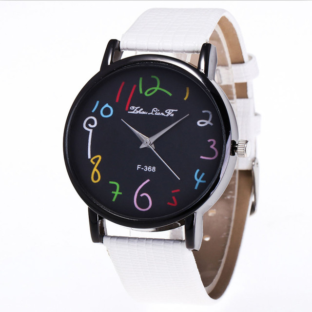 Watch Candy Color number Unisex Male Female women watches Strap Wrist Watch relo
