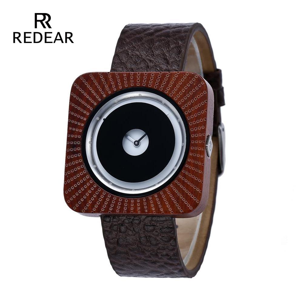 REDEAR Timepieces Bamboo Watch för Män Kvinnor Trä Quartz Klockor - Damklockor - Foto 1