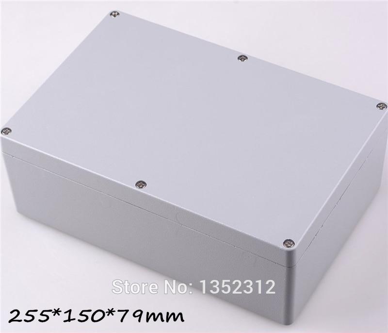 1 pcs 255*150*79mm IP68 aluminum waterproof enclosure DIY junction box outdoor metal box for electronic housing project box e cap aluminum 16v 22 2200uf electrolytic capacitors pack for diy project white 9 x 10 pcs