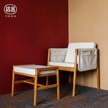 ZEN'S BAMBOO Sofa Chair Bamboo Armchair Stool Set Sponge Cusion Hanging bags Home Living room/Bedroom/Study Furniture