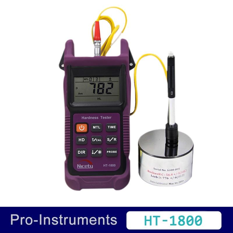Nicety HT-1800 Portable Rebound Leeb Hardness Tester Meter Durometer for Metal Steel 3 prong connection cable for leeb hardness tester