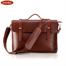Vintage Genuine Leather Cowhide Men Briefcase Business Handbag Shoulder Bag Fit For 15 Inch Laptop PR567082
