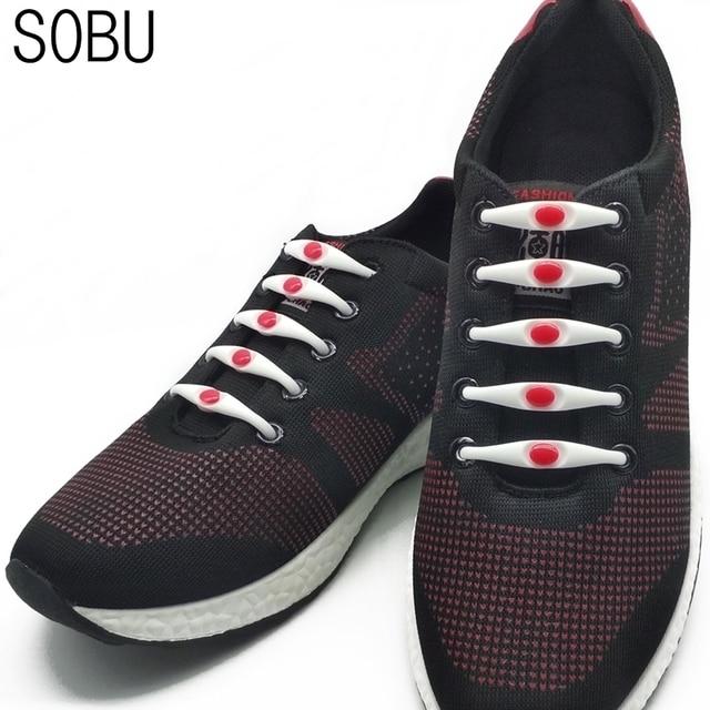 13ca527c5190 12pcs lot Elastic Shoelaces Silicone Shoelace No Tie Shoe Laces For  Adults Kids Lacing
