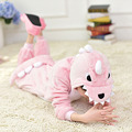 Kigurumi Animal Dinosaur Onesies Kids Children Pink Dinosaur Costumes Cartoon Pajamas Winter Carnival Party Cosplay For Girls
