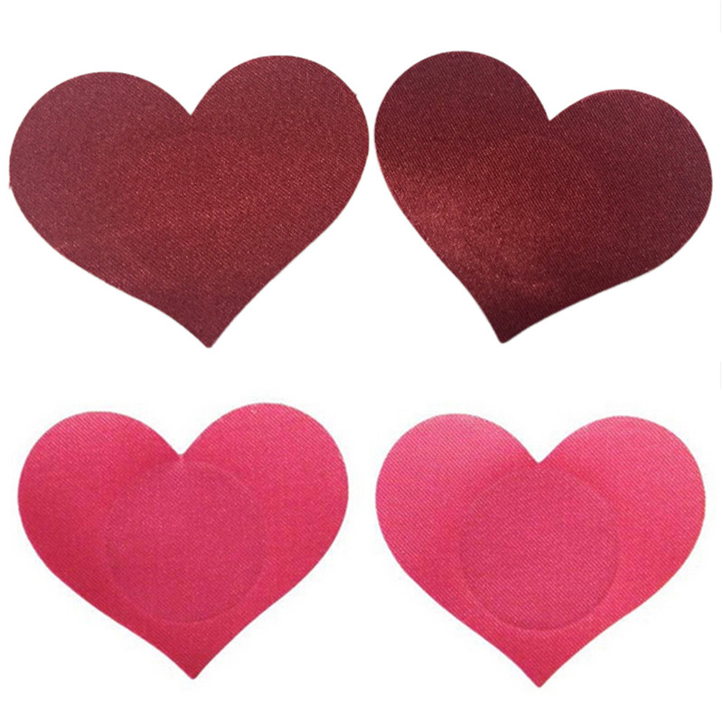 Breast Petals Heart Shape Adhesive Nipple Covers Breasts Petals And Sticker Emptied Chest Breast Petal 1 Pair