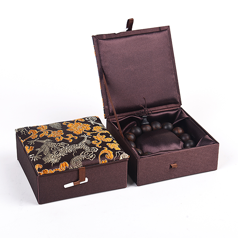 ᓂChinese Dragon Silk Brocade Cloth Box For Bracelet Jewelry Box Best Chinese Decorative Boxes