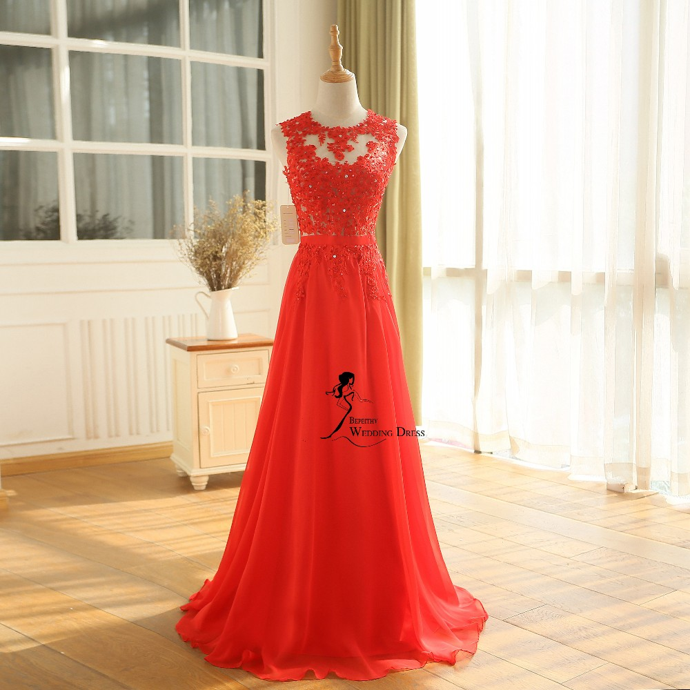 New Arrival Robe De Soiree A line Pink Chiffon Long Evening Dress Party Elegant Sexy Sheer Back Real Image Sleeveless Prom Gown 2016 (18)