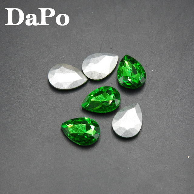 2017 New Emerald Color Point Back Teardrop Shape Glass Crystal Fancy Stone  Rhinestones For Jewelry Clothes Bags 4x6mm~20x30mm 43f11167d612