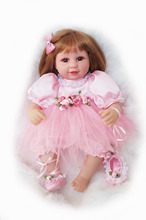 Cosette 40CM Baby Dolls Pink Ballet Girl in Lovely Dress with Cushion for Children Gifts Toy