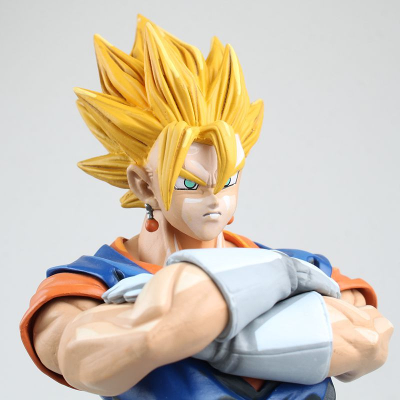 Anime Dragon Ball Z MSP Master Stars Piece Super Saiyan Vegetto Manga Dimensions PVC Figure Collectible Model Toys 26cm crazy horse genuine leather men bags vintage loptop business men s leather briefcase man bags men s messenger bag 2016 new 7205