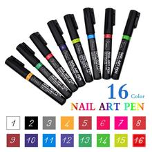 16 Candy Colors Nail Art Pen for 3D Nail Art DIY Decoration Nail Polish Pen Set 3D Design Nail Beauty Tools Paint Pens 12 color nail art paint pens set 12 pcs
