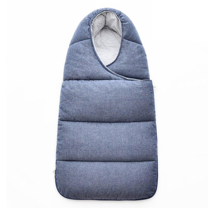 Sac de couchage bébé pour poussette couverture nouveau-né sacs de nuit courtepointes hiver infantile sac de couchage chaud mousseline coton bébé sommeil nid