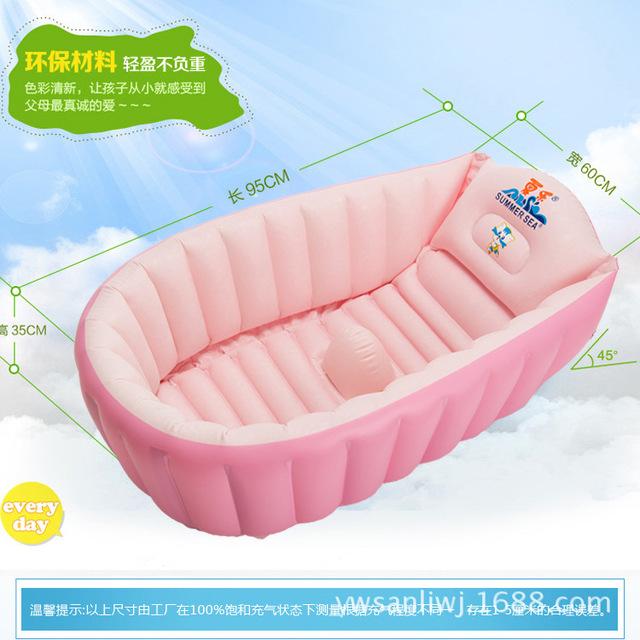 Inflação bebê Banheira Banheira Do Bebê Tuba Banho Espessamento Frasco de Crianças Recém-nascidas Lavagem Piscina Crianças Inflação