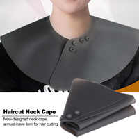 Silicone Haircut Neck Shawl Wrap Collar Shield with Magnet Buckle Waterproof Hair Coloring Barber Hairdressing Neck Shield