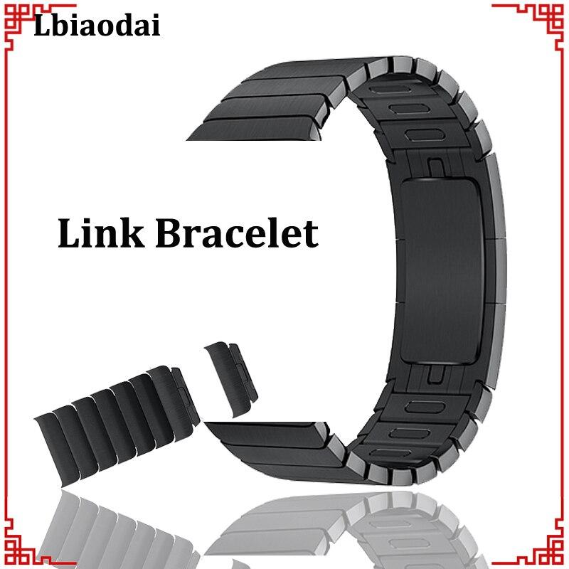 Cinturino in Acciaio Inox per Apple watch band 42mm 38mm 44mm 40mm cinturino del Braccialetto di Collegamento Correas per iwatch 4/3/2/1 fibbia in metallo