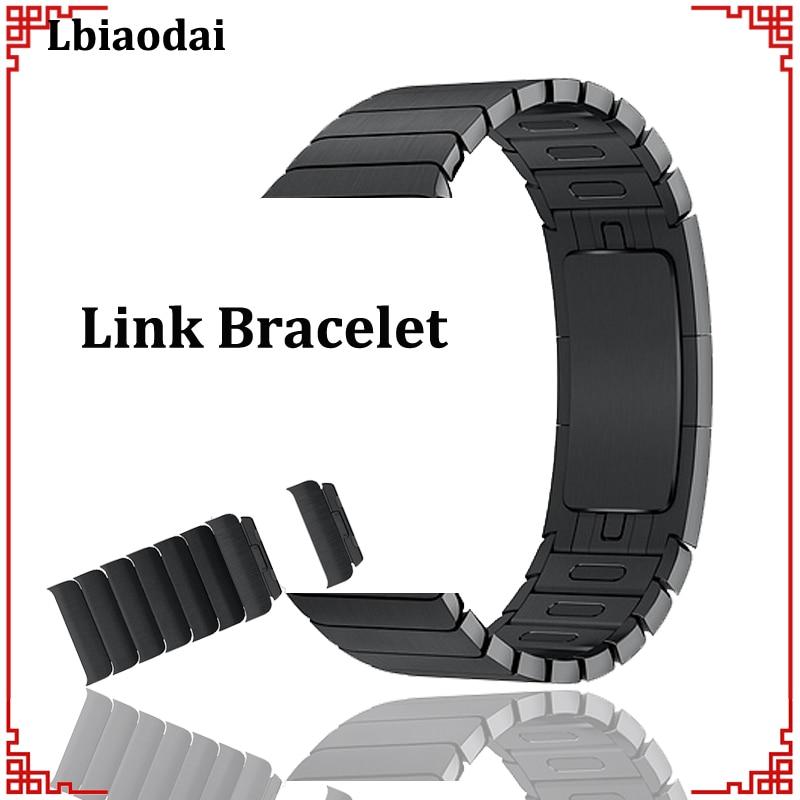Lien Bracelet pour Apple montre de Courroie De bande 42mm 38mm iwatch 4/3 bande 44mm 40mm En Acier Inoxydable bracelet bracelet série 4 3 2 1